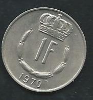 1970 - Luxembourg - 1 FRANC   - LAUPI 13510 - Lussemburgo
