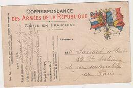 SP- Correspondance Des ARMEES De La REPUBLIQUE - - Guerra 1914-18