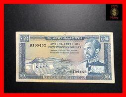 ETHIOPIA  50 $  1966  P. 28   Cut   F \ VF - Ethiopië
