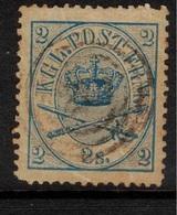 DENMARK 1863 2 Sk Blue SG 22 U #BMJ04 - Oblitérés