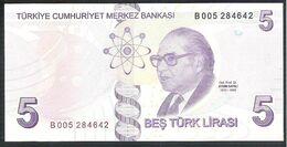 Turkey 5 Lira 2013 P222b  UNC - Turquia