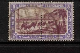 SUDAN 1898 5m Military Telegraph Stamps SG T6 U #BJX06 - Soudan (...-1951)