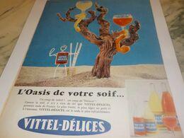 ANCIENNE PUBLICITE OASIS DE VOTRE SOIF  VITTEL DELICES  1959 - Afiches