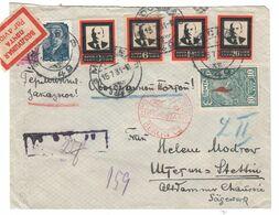 Sowjetunion , 1924 , Schöner Luftpostbrief Nach Stettin - Briefe U. Dokumente