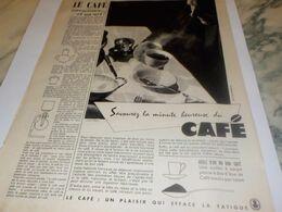 ANCIENNE PUBLICITE UNE SCIENCE UN ART LE   CAFE 1959 - Afiches