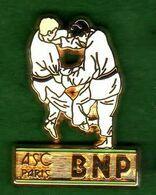 Pin's ASC BNP Judo  Zamac  Ballard - Banken