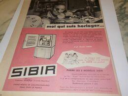 ANCIENNE PUBLICITE HORLOGER REFRIGERATEUR SIBIR 1959 - Technical