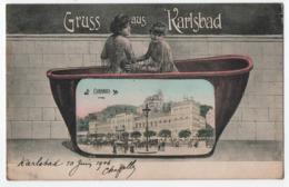 GRUSS AUS KARLSBAD (BADE WURTEMBERG) - ARRONDISSEMENT DE KARLSRUHE - CURHAUS - ECRITE EN 1906 - 2 SCANS - - Altri