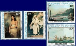 French Polynesia 1981 Paintings From 19th Century 4 Values  - 2008.2810 Hodges, Webber, Reynolds, Tobin - Other
