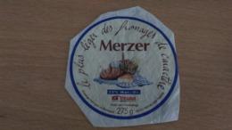 """Etiquette Fromage - Le Plus Léger Des Fromages De Caractère """" MERZER """" 25 % MAT G - Aschenbecher"""
