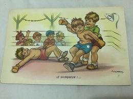 Illustrateur Gougeon, Le Vainqueur Boxe - Gougeon