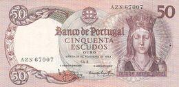 Portugal Nota De 50$00   Ano   1964 - Portogallo