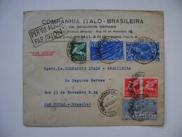 ITALY - LETTER SENT FROM MILANO TO SAO PAULO (BRAZIL) IN 1933 IN THE STATE - Correo Aéreo