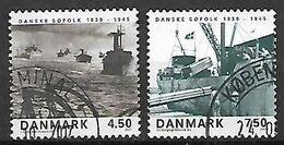 DANIMARCA 2005 NAVI DA GUERRA DANESI UNIF. 1404-1405 USATA VF - Danimarca