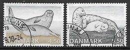 DANIMARCA 2005 MAMMIFERI MARINI FOCHE UNIF. 1420-1421 USATA VF - Danimarca