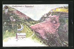 Künstler-AK Fritz Hass: Killinger Nr. 149: Martinskopf Und Herzogstand, Berg Mit Gesicht / Berggesichter - Andere Illustrators