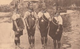 Burma, Tribes Of Burma, Palaung Women Necklaces Make Necks Longer C1900s/10s Vintage Postcard - Myanmar (Burma)