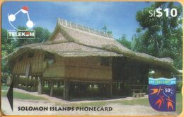 Solomon Island - SOL-17, GPT, 04SIC, Sigana Village, 10 SI$, 1997, Used Heavily - Salomon