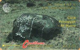 St. Vincent & The Grenadines - STV-5B, GPT, 5CSVB, Carib Petroglyph, 20 EC$, 22.000ex, 1992, Used - St. Vincent & Die Grenadinen
