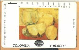Colombia - CO-MT-58, Tamura, Pinas, Teye, Art, 15,500 $, 10.000ex, Used As Scan - Colombia