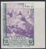 1940. * Edifil: 912ccs. VIRGEN DEL PILAR. COLOR CAMBIADO-SIN DENTAR - 1931-Today: 2nd Rep - ... Juan Carlos I