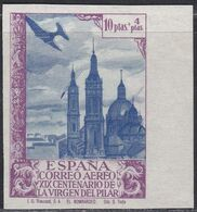 1940. * Edifil: 913ccs. VIRGEN DEL PILAR. COLOR CAMBIADO-SIN DENTAR - 1931-Today: 2nd Rep - ... Juan Carlos I