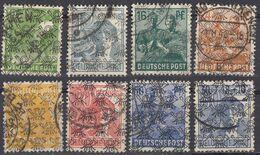 GERMANIA, OCCUPAZIONE ANGLOAMERICANA - 1948 - Lotto Composto Da 8 Valori Usati Con Sovrastampa Di Tipo II - Zona Anglo-Americana