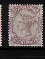 TASMANIA 1878 8d Dull Purple-brown QV SG 158 HM #BJG13 - Neufs