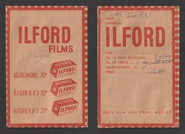 Egypt - RARE - ILFORD Films - Old Paper Pocket - Covers & Documents