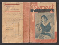Egypt - RARE - GEVAERT Films - Old Paper Pocket - Covers & Documents