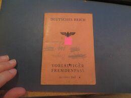 "PASSEPORT ALLEMAND,période Nazi,, "" Deutsches Reich "",voir Les Scans - Historical Documents"