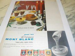 ANCIENNE PUBLICITE CREMES DE DESSERT  LAIT MONT BLANC 1959 - Afiches