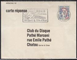 Mne De Cocteau 0.20f  Sur  Carte Réponse De PATHE MARCONI Postée Le 4 5 1961 Avec Liste De Disques - 1961 Marianne De Cocteau