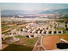 Geneve / Genf / Schweiz. Ville De Meyrin. AK Farbig, Gel. 1980. Panoramablick über Den Ort Und Das Umland - Zwitserland