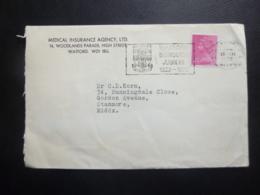 GREAT BRITAIN POSTMARK WATFORD BOROUGHS JUBILEE 1922-1972 - Storia Postale