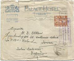 SVERIGE 30 ORE SOLO LETTRE COVER DEFAUT PALACE HOTEL GOTEBORG 1936 TO BALEARES + COMITE DE MILICIAS ANTIFASCITA - 1931-50 Storia Postale