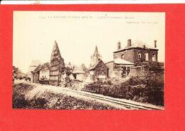 80 CAPPY Photo D ' Une Cpa Gare Ruines * Format 14 Cm X 9 Cm - Autres Communes