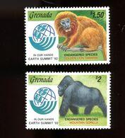 Grenada 1992-Gorille,lion Tamarin- YT  2196/7***MNH - Altri