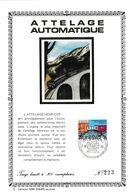 Feuillet Tirage Limité 300 Exemplaires 1626 Attelage Automatique Train Automotrice - Velletjes