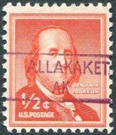 USA Alaska Local Precancel ALLAKAKET Type 1 Violet 1/2c Franklin (*) Vorausentwertung Timbre Préoblitéré # P01-841 - Precancels