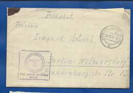 Enveloppe     Oblitération Militaire :  FELDPOST  DÖBERITZ  ÜBUNGSPLATZ  20/11/1939 + Cachet Avec Aigle Et Croix - Germany