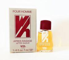 Miniatures De Parfum  POUR HOMME AFTER SHAVE   APRES RASAGE   De   WEIL   7  Ml  + BOITE - Miniaturen Flesjes Heer (met Doos)