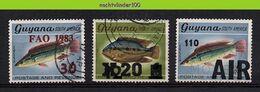 Mwe2747 FAUNA VISSEN * OPDRUK OVERPRINT * FISH FISCHE POISSONS MARINE LIFE GUYANA Gebr/used - Fishes