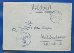 Enveloppe     Oblitération Militaire :  FELDPOST  DÖBERITZ  ÜBUNGSPLATZ  27/2/1940 + Cachet Avec Aigle Et Croix - Germany