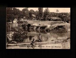 F106) Portugal Torres Novas Santarém Rio Almonda Ponte Das Ribeiras Ed. Justino H. D'Oliveira - Santarem