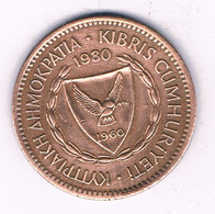 5 MILS 1980 CYPRUS /6790/ - Cipro