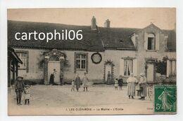 - CPA LES CLÉRIMOIS (89) - La Mairie - L'Ecole 1910 (belle Animation) - - Otros Municipios