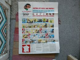 VIEUX PAPIERS - AFFICHE : GASTON LA GAFFE - GRAND JEU DU CODE POSTAL Et De La CAISSE NATONALE D'EPARGNE - Posters