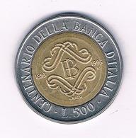 500 LIRE 1993  ITALIE /6800/ - 1946-… : Repubblica