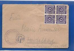 Carte   Zone AAS  Affranchi à 4 X 6  Pfennig   Oblitération:  LUDWIGSBURG  18/4/1947 - Zona AAS